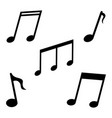 music notes icon black symbols song sound vector image