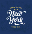 new york city typography with modern calligraphy vector image vector image