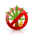 no palm oil prohibition sign badge or icon vector image vector image