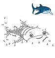 numbers game whale shark vector image vector image