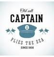 Old Salt Captain Vintage Marine Logo vector image