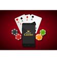 Online mobile casino background Poker app online vector image vector image