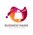 online store shopping logo and icon design vector image