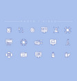 photo and video concept line style icons vector image vector image