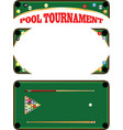 pool tournament vector image vector image