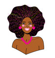 portrait a young beautiful african woman vector image vector image
