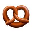 pretzel mockup realistic style vector image vector image