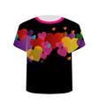 Printable tshirt graphic- Heart tee vector image vector image