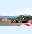 racing formula car on circuit track vector image vector image