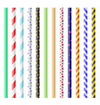 realistic 3d detailed plastic straws for drink set vector image vector image