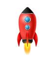 realistic 3d rocket space vector image