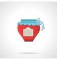 Red jam flat color icon vector image
