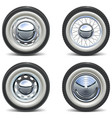 Retro Car Wheels vector image vector image