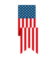 ribbon united states america flag vector image vector image