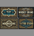 set of vintage logos organized by layers vector image vector image