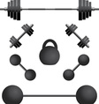 set of weights third variant vector image vector image