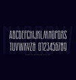 stock narrow sans serif font with inner contour vector image vector image