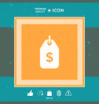 tag with dollar symbol price tag icon for vector image vector image