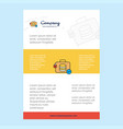 template layout for database briefcase company vector image vector image
