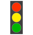 traffic light on white vector image
