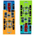 truck suspension top view vector image vector image