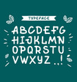 veranda cursive font alphabet with latin vector image