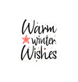 warm winter wishes holiday banner - new year vector image vector image