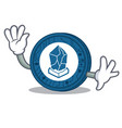 waving lisk coin character cartoon vector image vector image