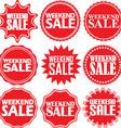 Weekend sale red label Weekend sale red sign vector image vector image