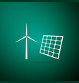wind mill turbines electricity and solar panel vector image