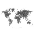 world map tangle lines vector image vector image