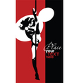 Dancing on a pole vector image