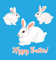 icon of paschal bunny hare or easter rabbit vector image
