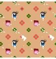 abstract seamless pattern cute kawaii style vector image vector image