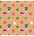 Abstract seamless pattern of cute kawaii style vector image vector image
