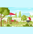 bbq party in backyard vector image vector image