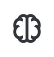 brain icon brain symbol pictogram isolated icon vector image