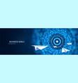 business goal solution concept paper planes flies vector image vector image