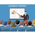 Businessman making presentation vector image vector image
