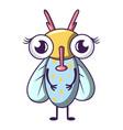 buzz fly icon cartoon style vector image vector image