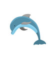 cartoon character funny dolphin on a white vector image vector image