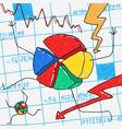 cartoon financial crisis vector image vector image