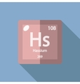 Chemical element Hassium Flat vector image vector image