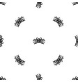 Crab sea animal pattern seamless black vector image
