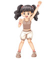 cute girl in brown tanktop vector image vector image