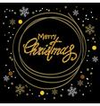 dark christmas postcard vector image vector image