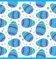 easter seamless pattern with colorful eggs vector image vector image