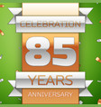 eighty five years anniversary celebration design vector image vector image