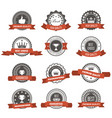 emblems badges and stamps with ribbons - awards vector image vector image