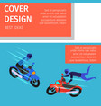 extreme sport activity cover design motobikers vector image